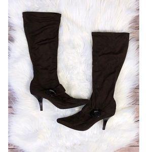 Bcbg girls 9 heel calf boots brown